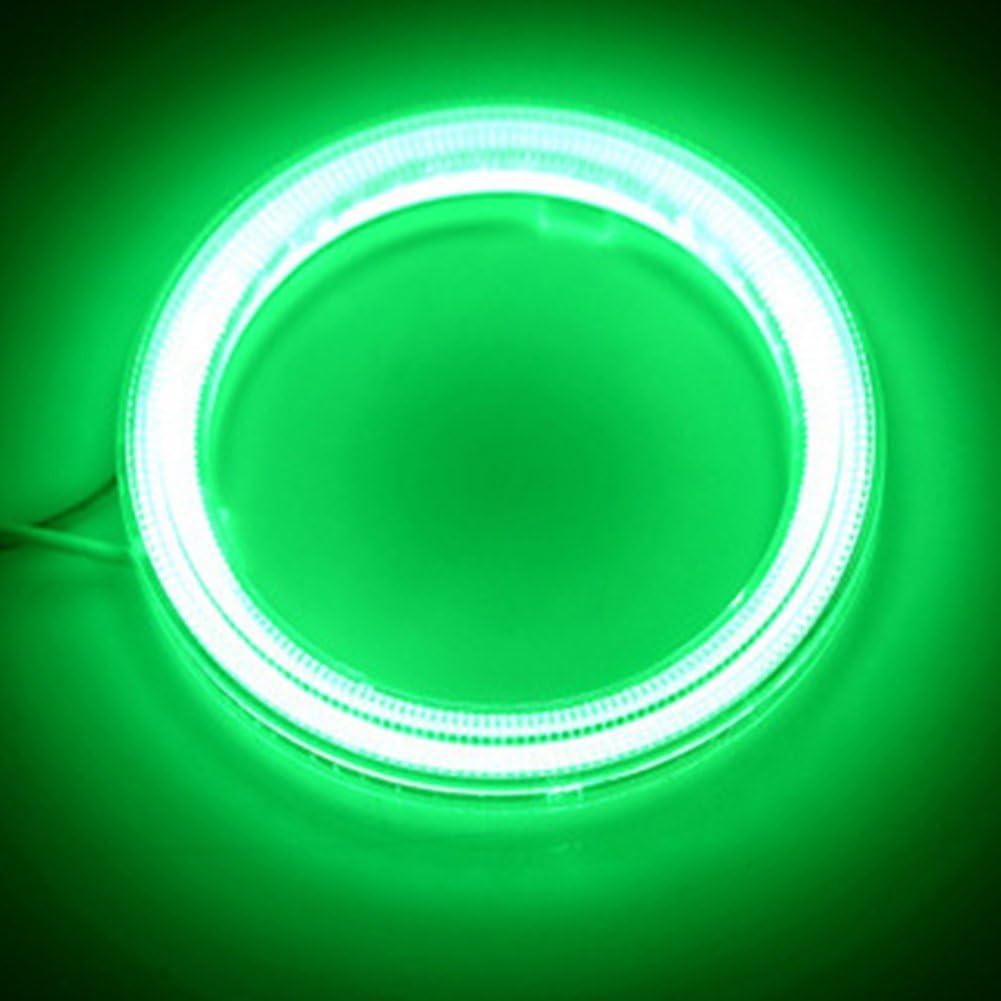 phares de voiture avec halo lumineux de 60 mm et 6500K et cache de protection TABEN Cercles lumineux Angel Eyes /à Led COB 45SMD DC12 V 1 paire