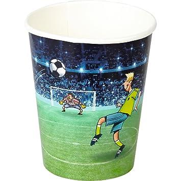 Spiegelburg 14118 Juego de 8 Vasos de Papel Futbol Fiestas ...