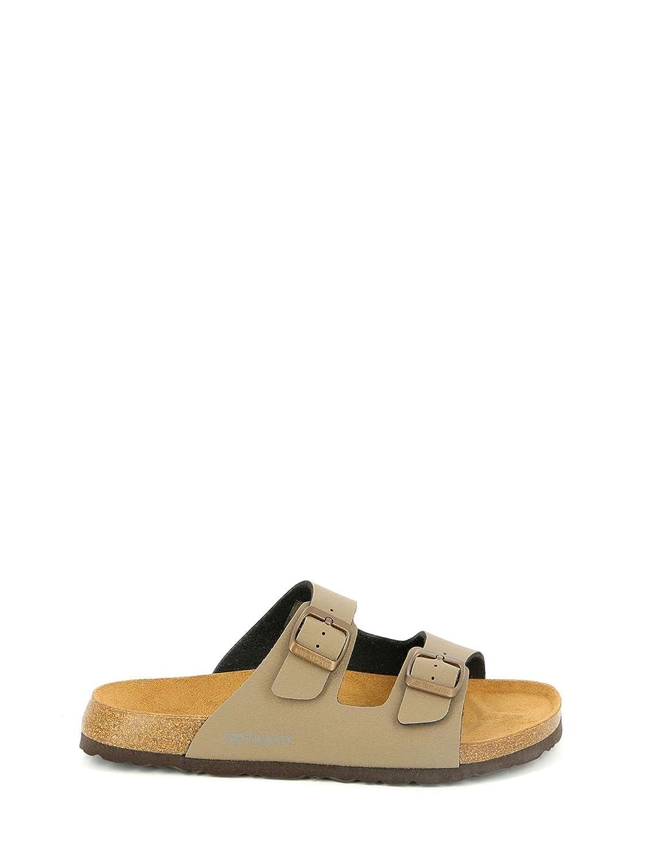 GRUNLAND Bobo, Zapatos de Playa y Piscina para Hombre 40 EU|Tortora