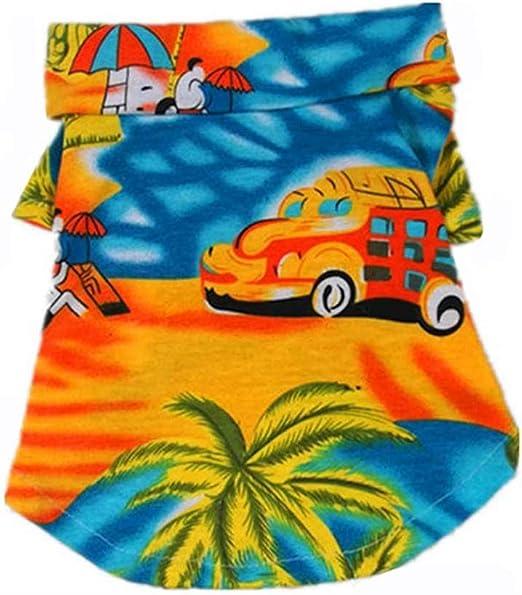 Ropa para Disfraces De Mascotas Perro Camisas Hawaianas Ropa De Playa Floral Camisa Polo Camiseta Suave Y CóModo AlgodóN Cachorro Gato Ropa Casual: Amazon.es: Productos para mascotas