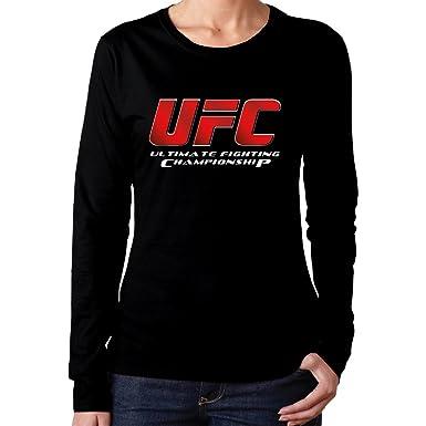 0a5a314d91c8 Women's UFC Ultimate Fighting Championship Logo Long-Sleeves Tee Shirt Best