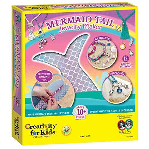 Creativity for Kids Mermaid Tail Jewelry Maker - Create 10+ Jewelry Pieces