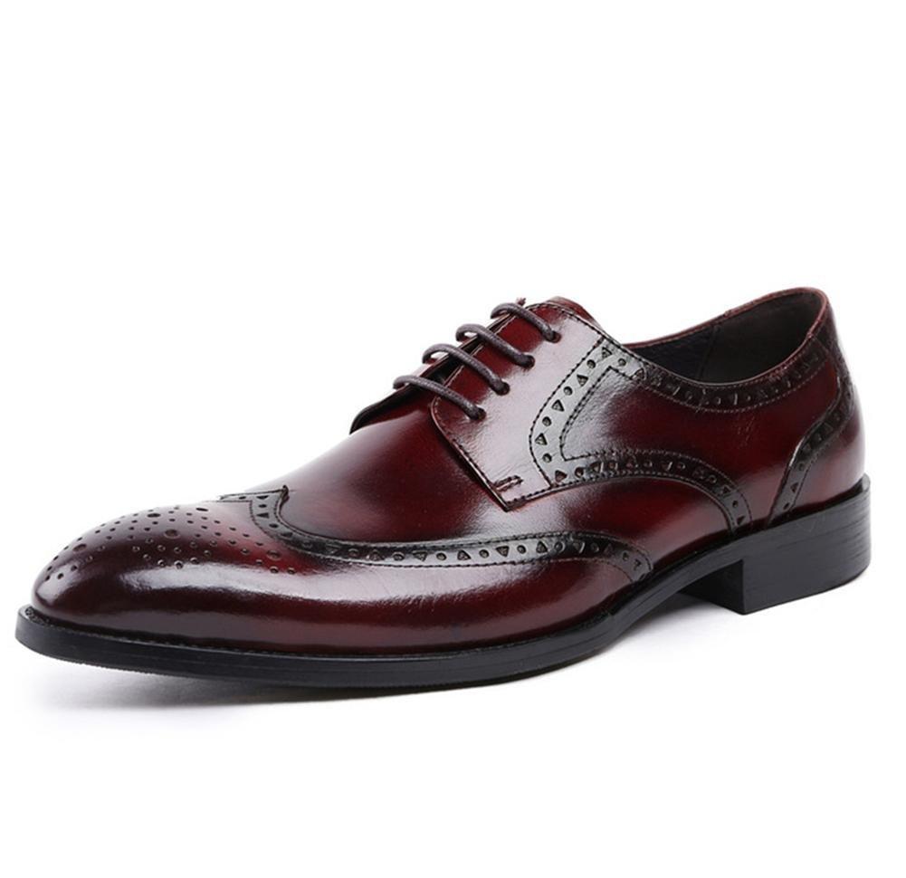 XIE Männer Beiläufig Leder Schuhe Schnüren Kleid Hochzeit Oxford Formal Geschäft Schwarz Stier Oxford Hochzeit Zum Männer Arbeit Größe 38-44 3d7665