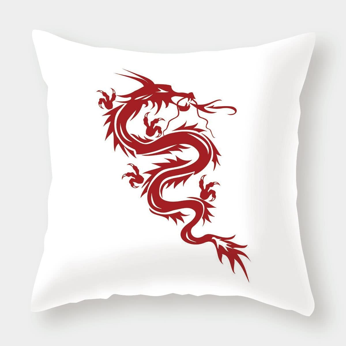 White Music Note Dragon Accent Pillow