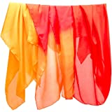Sarah's Silks - Burning Fire Set of 3 Playsilks, 100% Real Silk, Eco-Friendly Dye, 35-Inch Square Silk Play Scarves