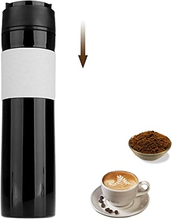 Cafetera de prensa francesa de viaje, taza de café portátil para ...