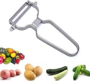 LOYOMA Stainless Steel Vegetable Peeler for Kitchen, Sharp Fruit Peeler Knife, Kitchen Paring Gadget Handheld Multifunctional for Potato, Carrot, Apple, Veggie, Cucumber