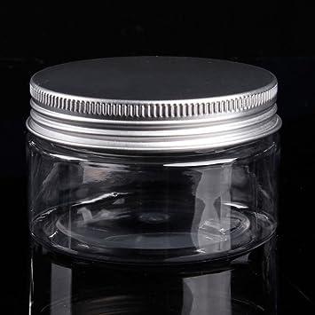 Juego de 10 botellas de plástico para cosméticos y productos de baño, con tapa de aluminio, para viajes: Amazon.es: Coche y moto