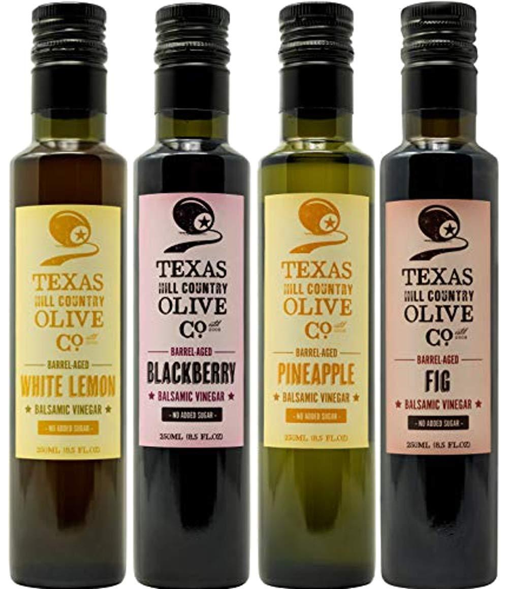 Terra Verde White Lemon Balsamic Vinegar & Terra Verde Blackberry Balsamic Vinegar & Terra Verde Pineapple Balsamic Vinegar & Terra Verde Fig Balsamic Vinegar