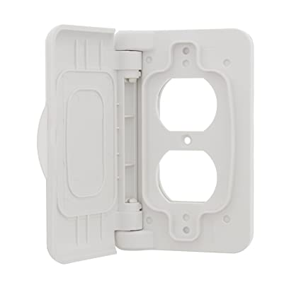 Rv Electrical Outlet >> Amazon Com Abn Weatherproof Receptacle Cover In White Outdoor