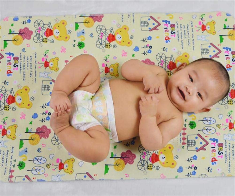 3 Pack B.B Bamboo Cotton 3-Layer Waterproof Baby Toddler Changing Pads Washable Resuable Diapers Liners Mats 3 Pack Giraffe-45x35cm