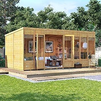 Casa de verano para el jardín moderna BillyOh Bella Tongue and Groove para descansar, con