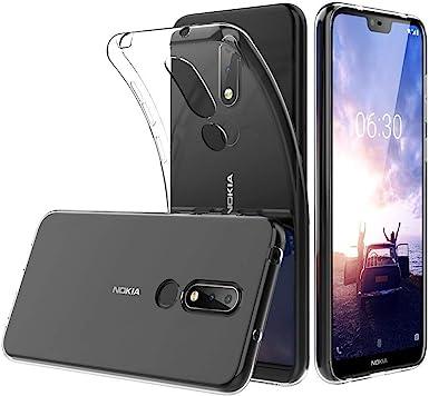 Funda Nokia X6, Nokia 6.1 Plus TPU Transparente Slim Silicona Case ...