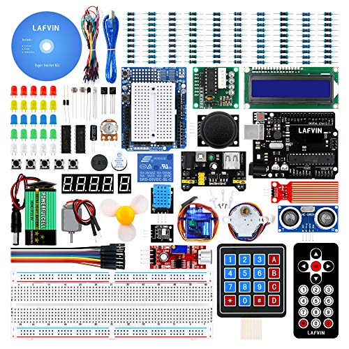 (LAFVIN for UNO Project Super Starter Kit for Arduino for uno R3 Mega2560 Mega328 Nano with Tutorial)