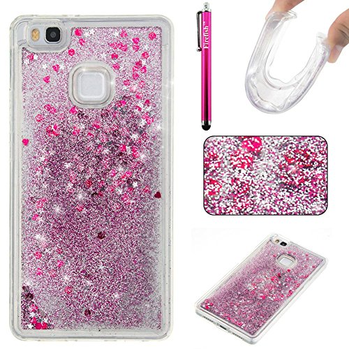 Huawei P9 Lite Case, Firefish Slim Dynamic Flowing [Anti-Slip] Flexible TPU [Scratch Resistances] Protective Cover for Girls Children Fits for Huawei P9 lite -Purple