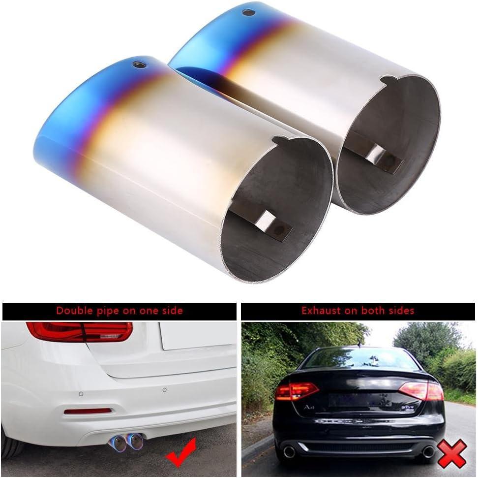 Silencieux d/échappement Tail Pipe Tip Compatible avec BMW E90 328i E92 325i S/érie 3 1 paire par Delaman