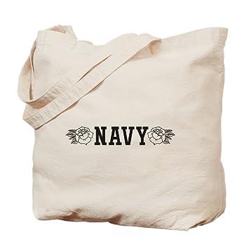 CafePress - Bolsa de la compra de tela, color azul marino ...
