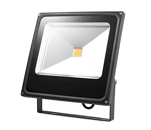 Proyector LED 50 W Super luminoso blanco cálido Exterior Interior ...