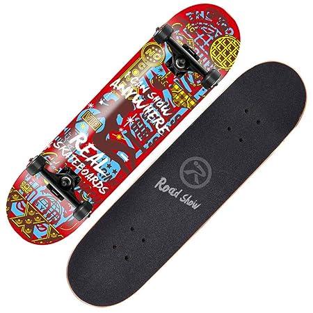Axdwfd Skateboard Skateboard, Apto para Principiantes ...