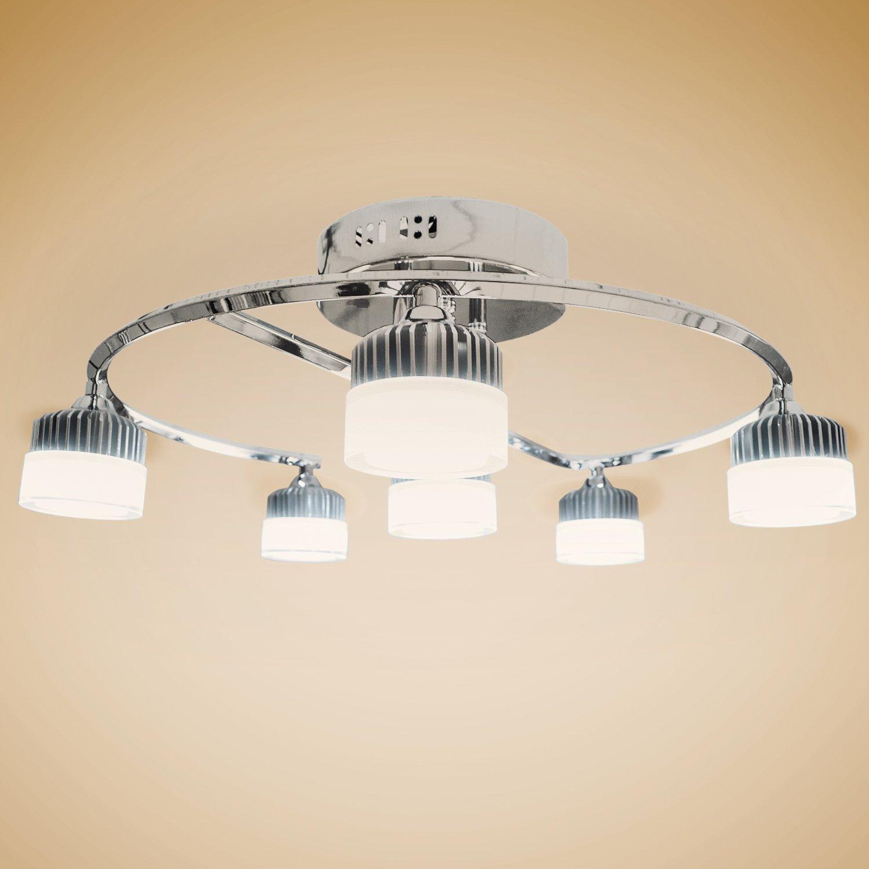 Deckenlampen LED Wohnzimmerlampe Gestell Chromfarben Warmweiss Amazonde Beleuchtung