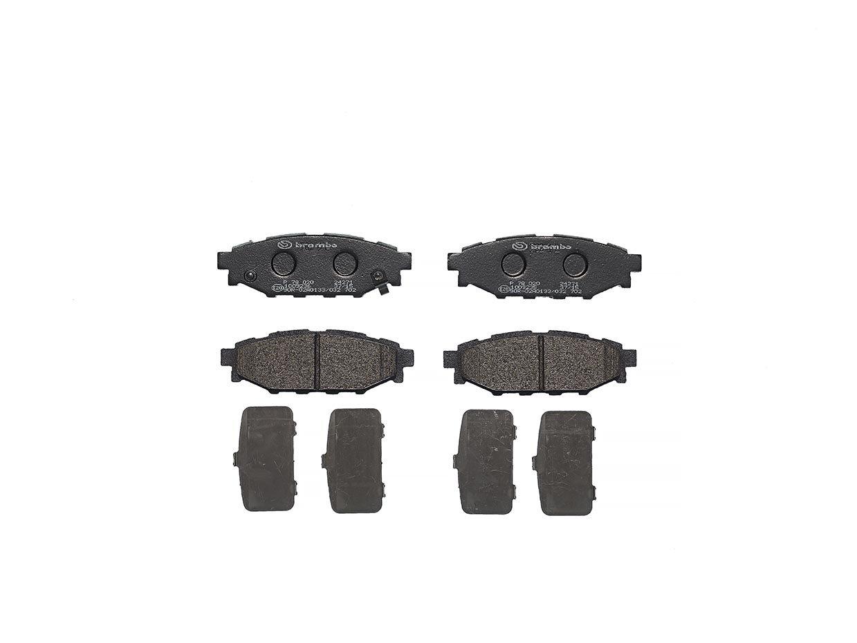 Anzahl 4 Brembo P78020 Hintere Bremsbel/äge