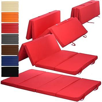 Proheim Matelas Pliant Duo 195 X 120 X 7 Cm Confortable Matelas D Appoint Transportable Avec Housse En Microfibre Ideal Pour Des Invites Pour