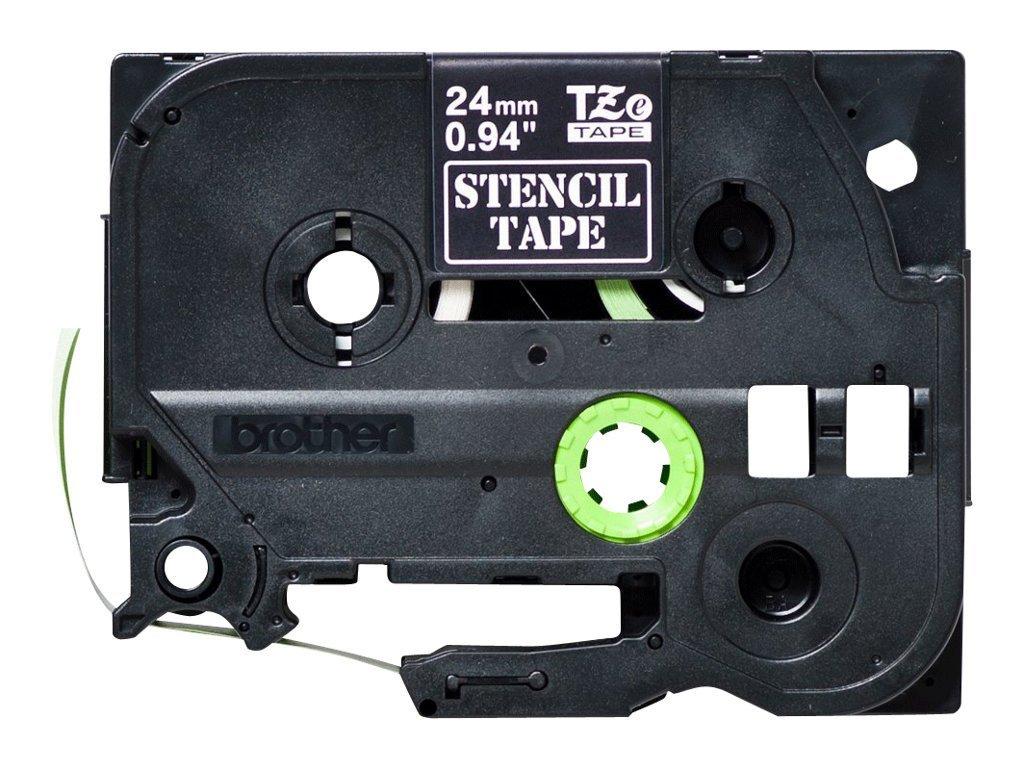 Brother STE151 24 mm Stencil Tape Cassette - Black 1838859