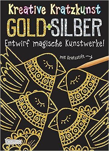 Kreative Kratzkunst Gold Und Silber Set Mit 10 Kratzbildern
