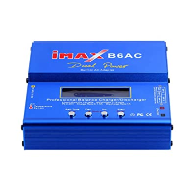 Aenmil Universal Multifunction Battery Charger IMAX B6AC 50W DC LiPo Battery Balance Charger Discharger Separate Voltage Detector for Balance Charge Mode Compatible with Lion, LiPo, LiFe, Pb, Lead Acid, NiCd and NiMH Batterie