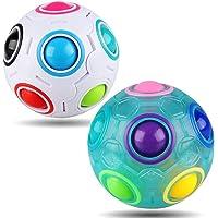 Yojoloin Rainbow Puzzle Ball Cube Magic Rainbow Ball