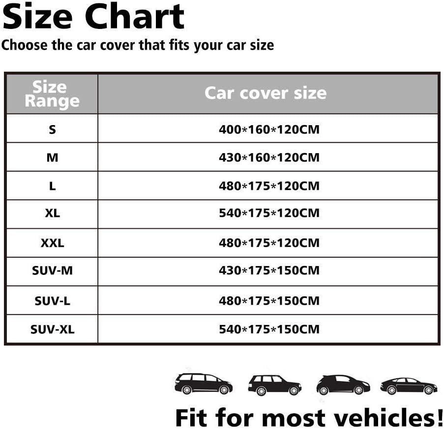 NIBESSER B/âche Voiture Exterieur Imperm/éable Housse de Voiture Protection Auto /Étanche R/ésistant /à la Neige Couverture Voiture Durable