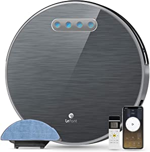Lefant M571 Robot Vaccum and Mopping,FreeMove Robotic Vacuum 2200Pa Suction Wi-Fi with Alexa and Google,180 Mins Runtime,Self-Charging, Long Life Battery,for Pet Hair, Hard Floor,Medium-Pile Carpets