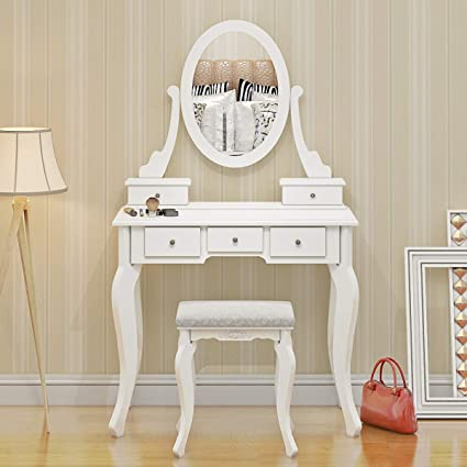 Modern White Console table Dressing Table W// 3 Drawers Bedroom Make up  Storage
