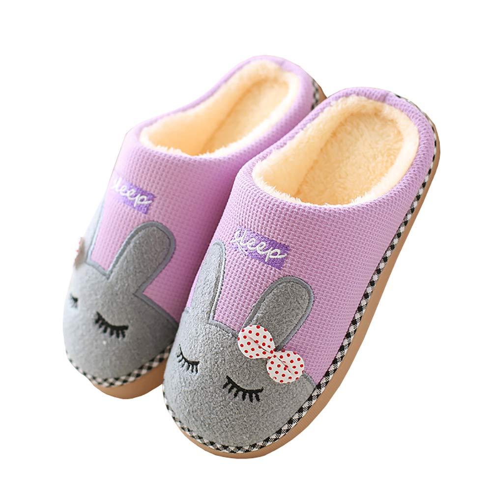 a4cb2cd1ad039 Cliont Mignon Chat Pantoufles Pantoufles Intérieur Anti Slip Chaussures  pour Les Femmes Et Les Hommes