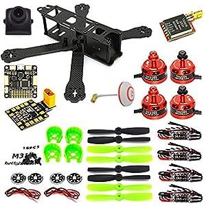 LHI 220 Quadcopter Kit Full Carbon Frame Kit+DX2205 2300KV Brushless Motor+ Littlebee 20A Mini ESC+F3 Flight Controller Board Cleaflight 6DOF Standard+700TVL camera+TS5828 FPV 5.8G 32CH