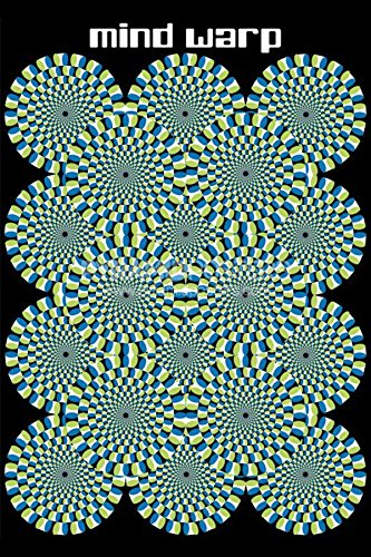 Mind Warp Optical Illusion Novelty Decorative College Op Art Poster Print unframed
