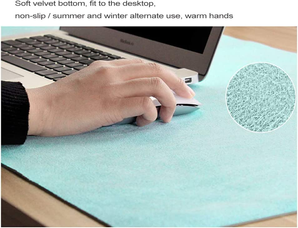 With comfortable writing surface Waterproof-brown 120x60cm Extended Computer keyboard mousepad 47x24inch Leather PU Gaming mouse pad Writing mat