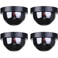 TOROTON 4Packs Fake Factice de Sécurité Caméra Dôme CCTV avec Clignotant Lumière