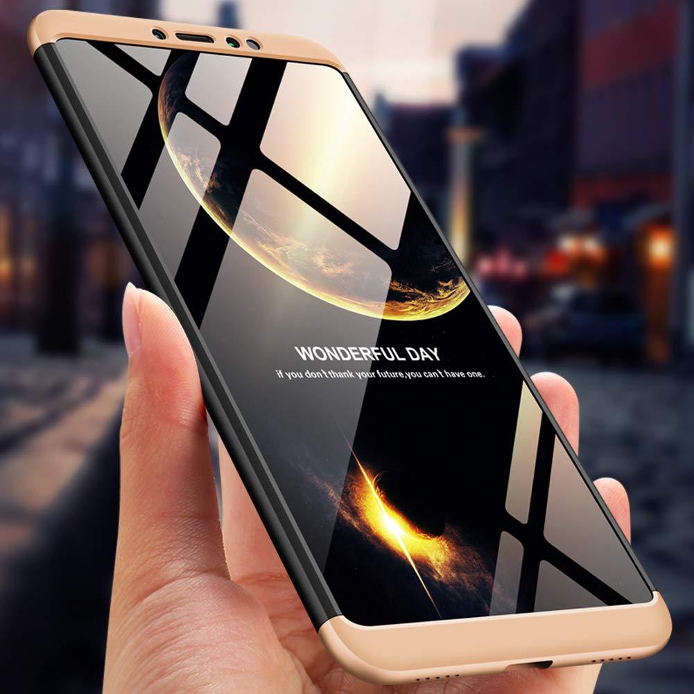 Xiaomi 5X MRSTER Xiaomi Mi A1 Funda 3 en 1 Ultra Fina PC Case Premium Slim 360 Grados Full Body Protective Shockproof Cover for Xiaomi Mi A1