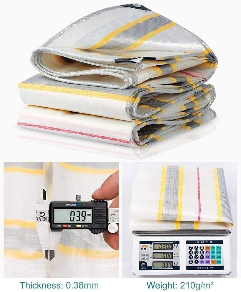 三色のストリップ雨布防雨生地:210グラム/㎡色 - 防水ターポリン厚み付け防水ターポリンシェードは、布をシェッド 3.14 (Size : 5x10m)