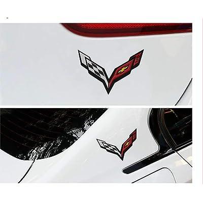 3D CORVETTE Emblem Car Rear Lid Sticker Decal for 2014-2019 Corvette C7