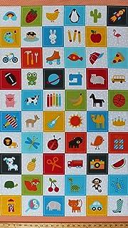 "12 x candy stripe blue polycotton 8/"" or 20cm patchwork squares //fabric pieces"
