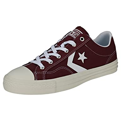 eb9f720d0708d9 Converse Star Player Ox Mens Trainers Burgundy White - 10 UK