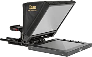 Ikan 12-inch Portable Teleprompter Kit, Adjustable Glass Frame, Easy to Assemble, Extreme Clarity (PT1200) - Black