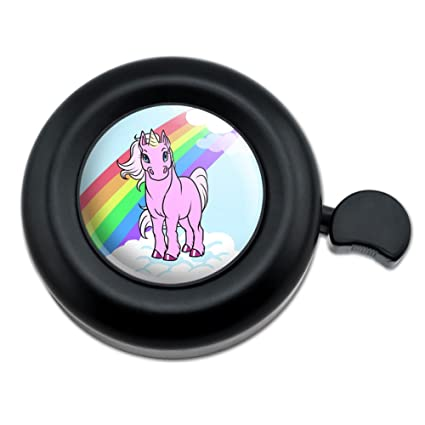 Amazon.com: Unicorn Pony Rainbow Rosa bicicleta de manubrio ...