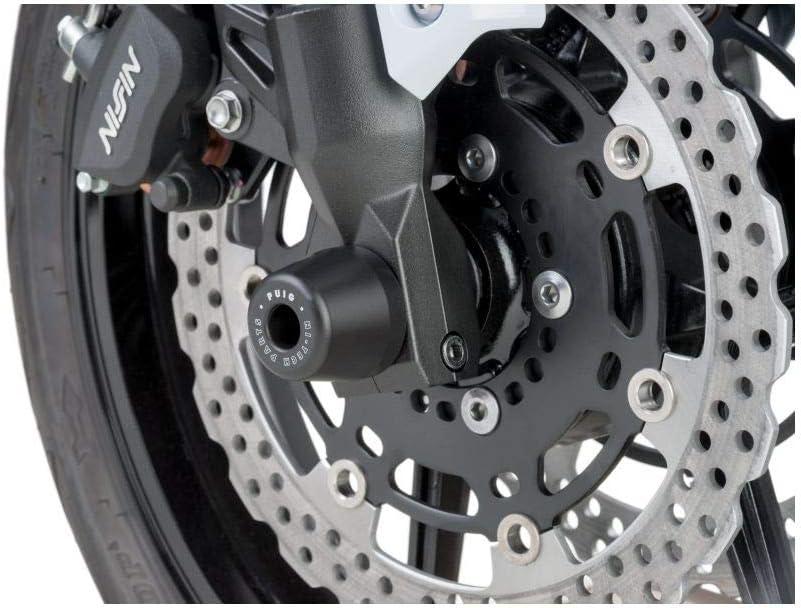 Puig 7743N Black Fork Slider Kawasaki Versys 1000 12-13