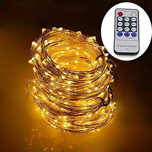 dreamworth 50,3m luces LED, 500luces LED estrellada sobre 50m Revestimiento de plata alambre de cobre cadena luces +...