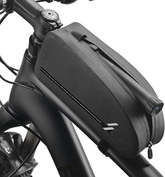 Bolsa de Tubo de Bicicleta, Bolsa de triángulo de Bicicleta de película Impermeable de TPU, Bolsa de MTB para Bicicleta de Gran Capacidad, Adecuada para Bicicletas de montaña/Bicicletas: Amazon.es: Deportes y aire