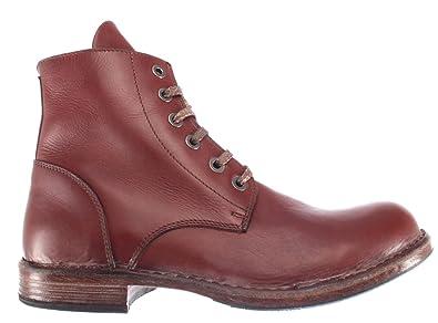 15d3360afd8e MOMA Herren Stiefel Boot Schuhe 67701-R3 Pelle Leder Firebrick Vintage Made  IT
