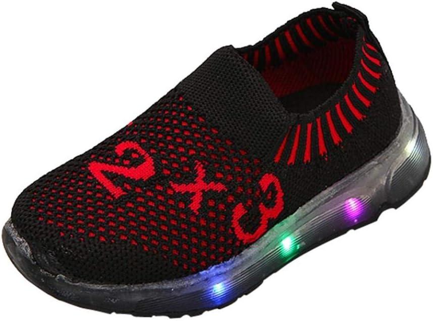 Chaussures LED Basket Garçons Filles,Xinantime Enfants Filles Garçons Led Light Chaussures étudiant en Maille Sport Lumineuse